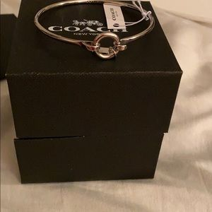 NWT COACH SIlVER PLATED BRACELET
